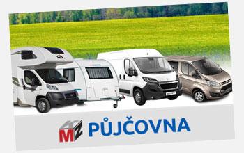 Autopůjčovna osobní auta, mikrobusy, dodávky, vozíky, karavany a obytné automobily