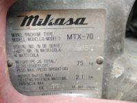 Fotografie 3. Vibrační pěch Mikasa MTX-70